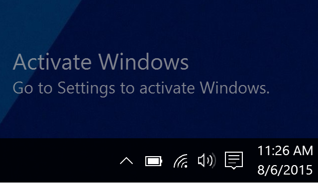 How do I get the activate windows overlay back? - Microsoft Community